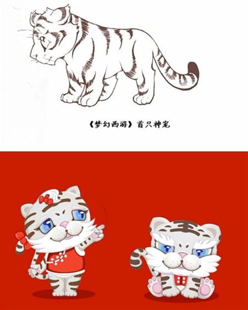可爱活泼老虎简笔画
