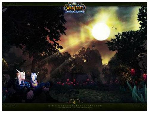 浪漫四月《魔兽世界》最新月历壁纸