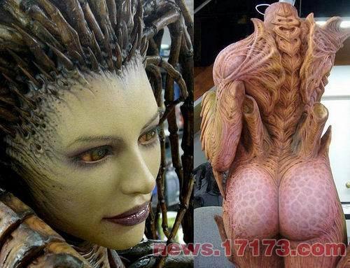 星际2 刀锋女王雕像制作过程公开图片