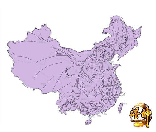 中国地图萌化《斗神》影舞也来赶时髦