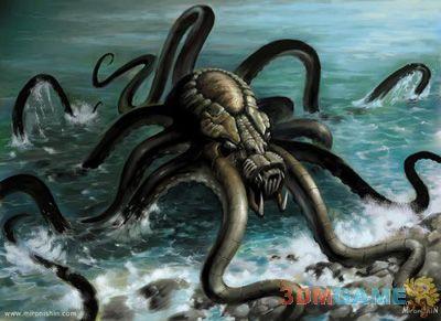 章鱼怪卡通手绘